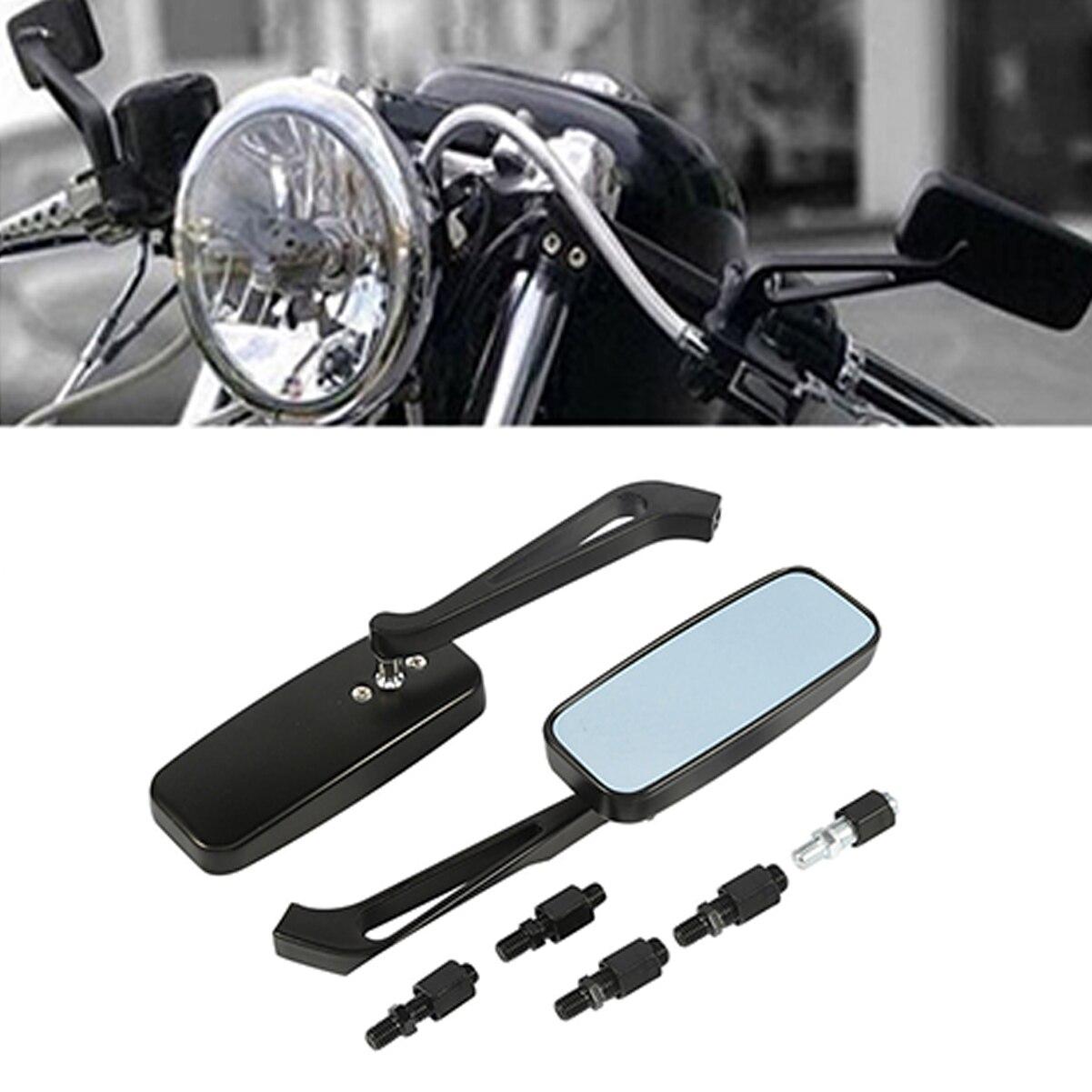 New Motorcycle Bike Rearview Side Mirrors 8mm//10mm For Honda Suzuki Yamaha Honda