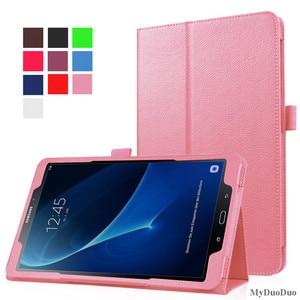 Image 5 - Fall für Samsung Galaxy Tab EINE A6 10,1 2016 T585 T580 SM T580 T580N PU Leder Schlank Funda für samsung t580 fall + Film