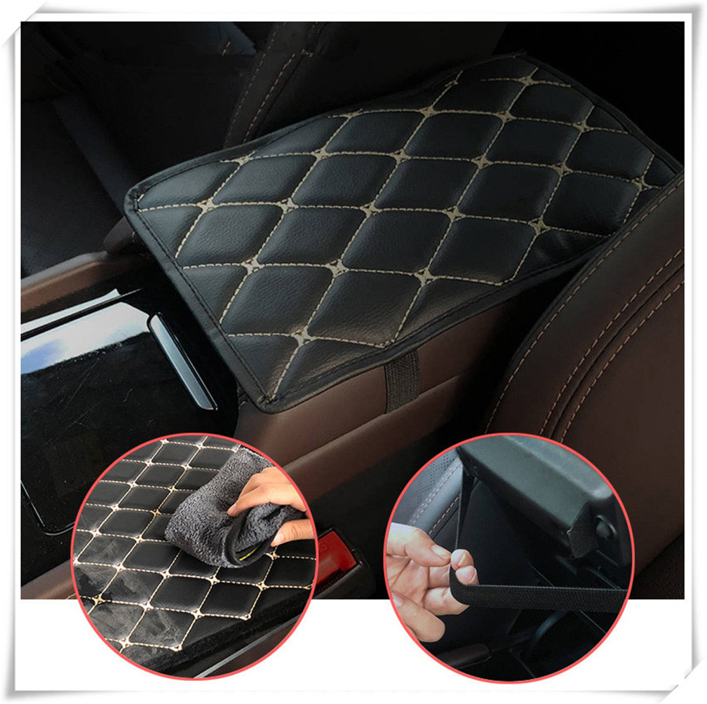 Car Armrest Mat Auto Armrests Mats Cushion Cover Pad for <font><b>Toyota</b></font> <font><b>4Runner</b></font> Sienna Sequoia Prius GR Camry i-TRIL COASTER highlander image