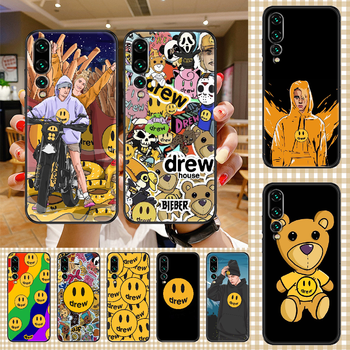 Justin Bieber Fashion Drew Phone case For Huawei P Mate P10 P20 P30 P40 10 20 Smart Z Pro Lite 2019 black silicone cell cover image