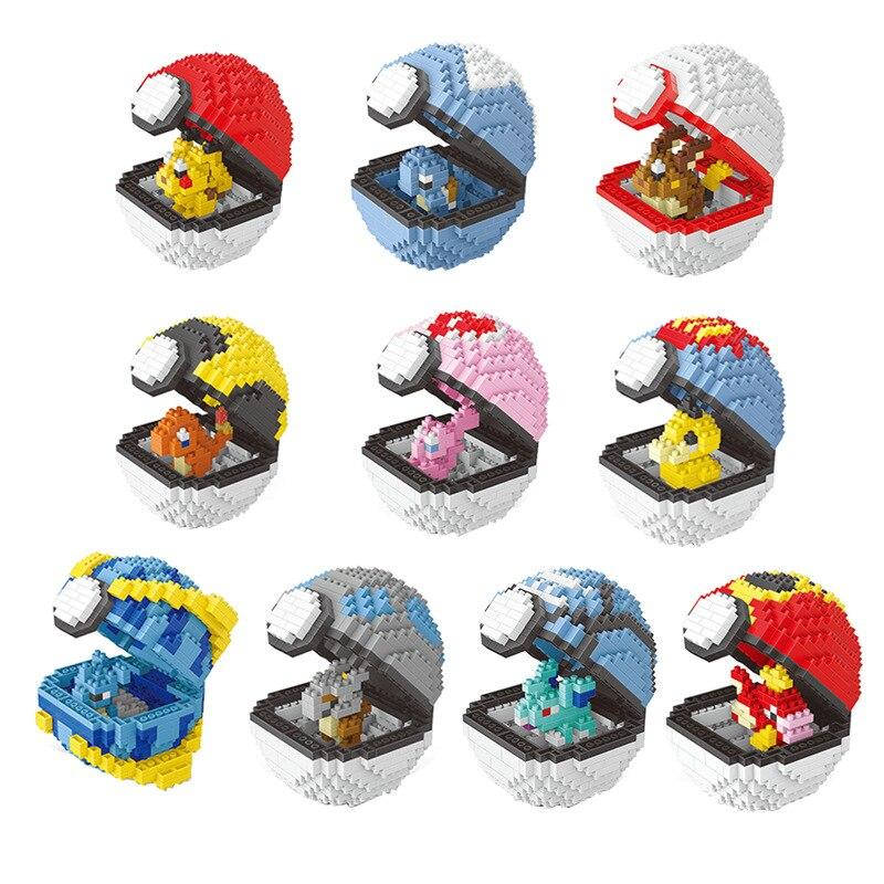 Tomy Pokemon Pikachu Bricks Toy Fairy Ball Gift Ornament Model Early Education Of Creative Educational Toys Legoinglys