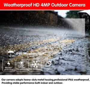 Image 4 - 4mp hd cctv 시스템 8ch ahd dvr 키트 8 pcs 4.0mp 2560*1440 6 * 어레이 led 보안 카메라 야외 감시 키트 쉬운 원격보기