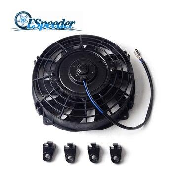 71012Electric Engine Cooling Radiator Fan Motor Engine Radiator Oil Cooler Cooling Electric Pull Push Fan 12V 80W 1355a124 radiator cooling fan control unit module for 02 06 mitsubishi lancer