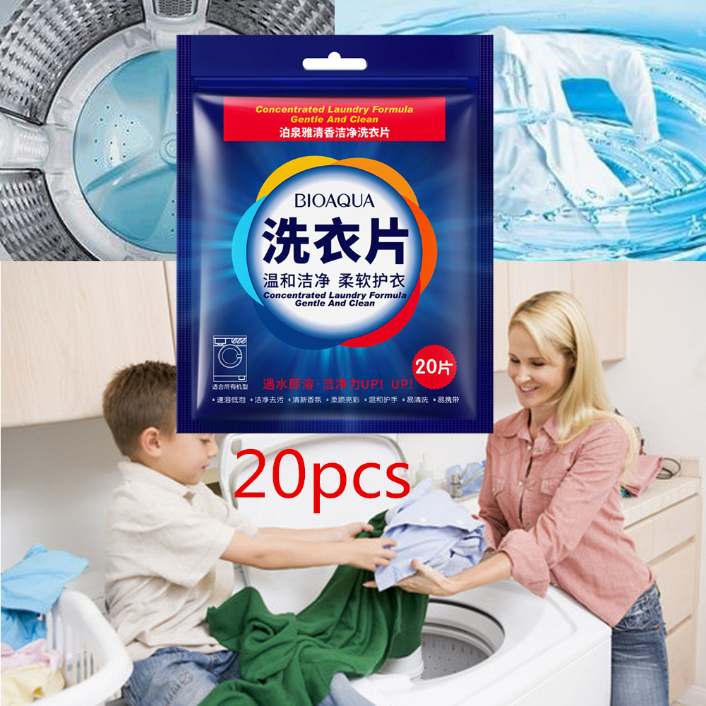 20 New Formula Laundry Detergent Sheet Nano Concentrated Washing Powder For Washing Machine Laundry Cleaner Cleaning Products^5