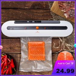 Electric Vacuum Sealer Machine Automatic Food Vacuum With 10pcs Food Saver Bags Household Packaging Machine