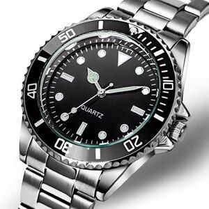 Image 3 - Orologio da uomo con cinturino in acciaio inossidabile 304 orologi da uomo con cornice girevole 40mm Masculino impermeabile