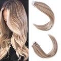 Fita de sindra em extensões adesivas do cabelo humano remy cabelo natural 14