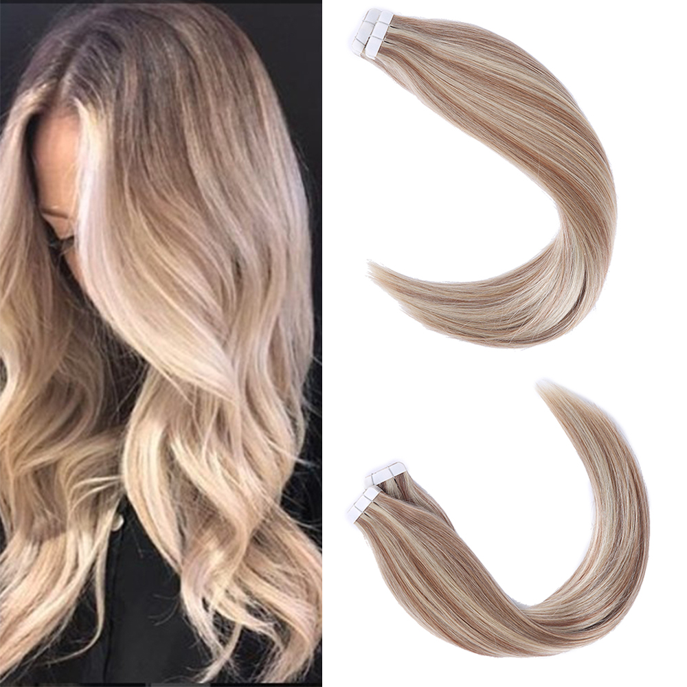 Sindra Tape In Human Hair Adhesive Extensions Remy Natural Hair 14