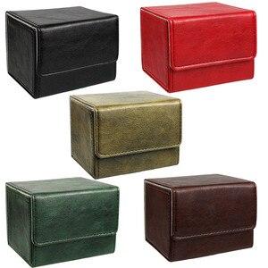 Image 1 - Nieuwe Collectie Retro Pu Capaciteit Doos Trading Cards Container Collectie Voor Bordspel Mouw Houder Case