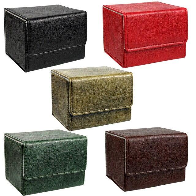 Nieuwe Collectie Retro Pu Capaciteit Doos Trading Cards Container Collectie Voor Bordspel Mouw Houder Case