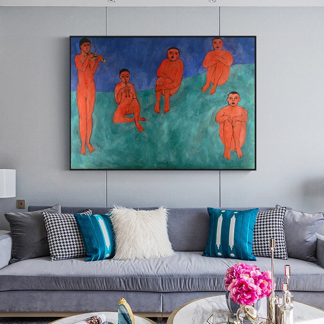 The Dance and Other Abstract Paintings by Henri Matisse Printed on Canvas 5