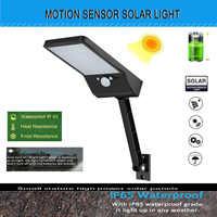 Farola solar de pared para jardín, foco Solar de Sensor de movimiento PIR automático, con lámpara de Control remoto