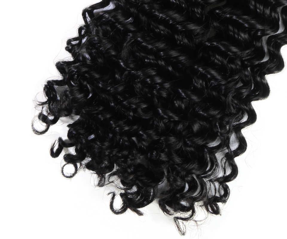 Addbeauty 7 sztuk/zestaw perwersyjne kręcone fala klip na całą głowę Yaki proste włosy ludzkie rozszerzenia 120 g/zestaw Remy naturalny czarny kolor