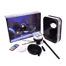 Durable heating Control Hookah Shisha Acrylic Arab Set With Led Lamp Portable Box Include Bowl Silicone Pipe Gifts