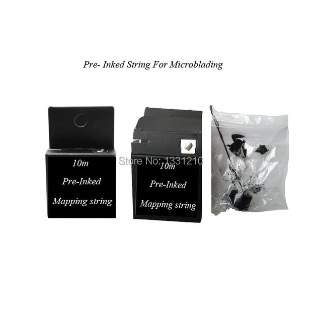 Pre-Inked  Microblading MAPPING STRING Eyebrow Marker thread  For Brow Mapping - Measuring Tool