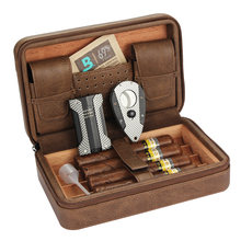 Кожаный хьюмидор galiner чехол для сигар с влажностью набор