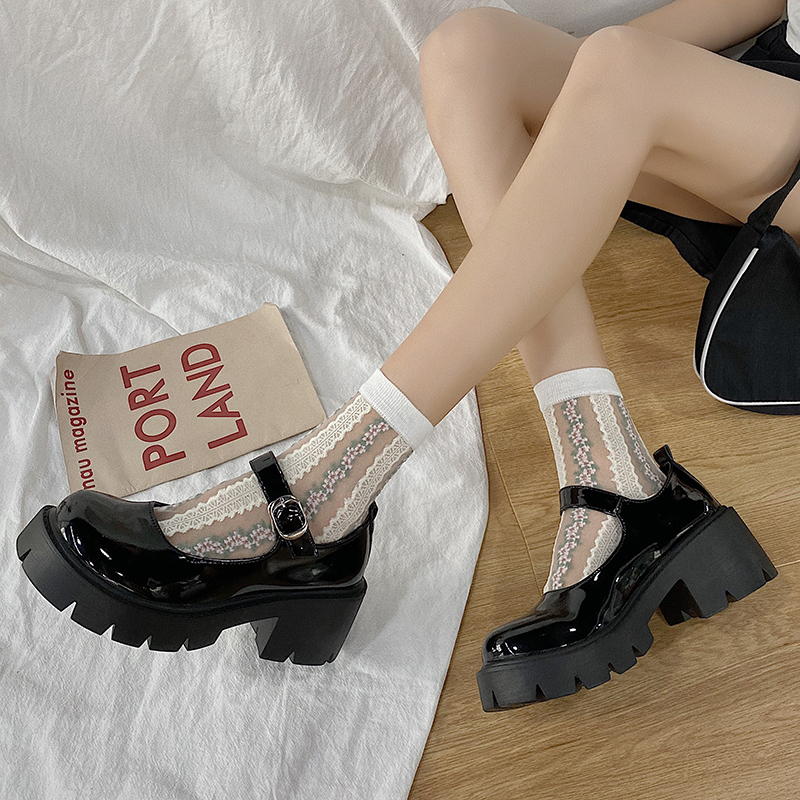 Heel shoes model Mary Jane shoes women's Japanese high heels platform shoes Harajuku retro Lolita shoes high heels