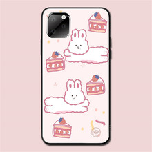 for Iphone XR 11Pro Max Iphone11 Max Ip7 8Plus 6 Case Cute rabbit Pink Cartoon Silicon Soft Black Case Full Protective Back Case protective back case for iphone 4 4s silver black