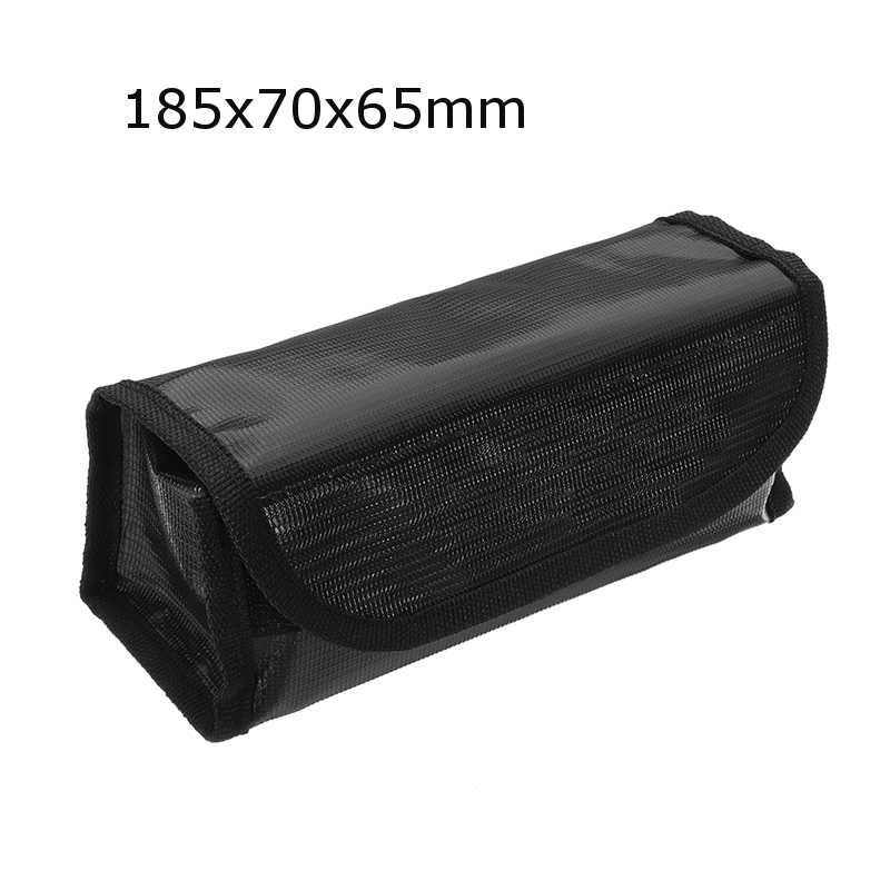 Black Version Lipo Battery Portable Fireproof Explosion-proof Safety Bag Fire Resistant 185x75x60mm For RC Lipo Battery