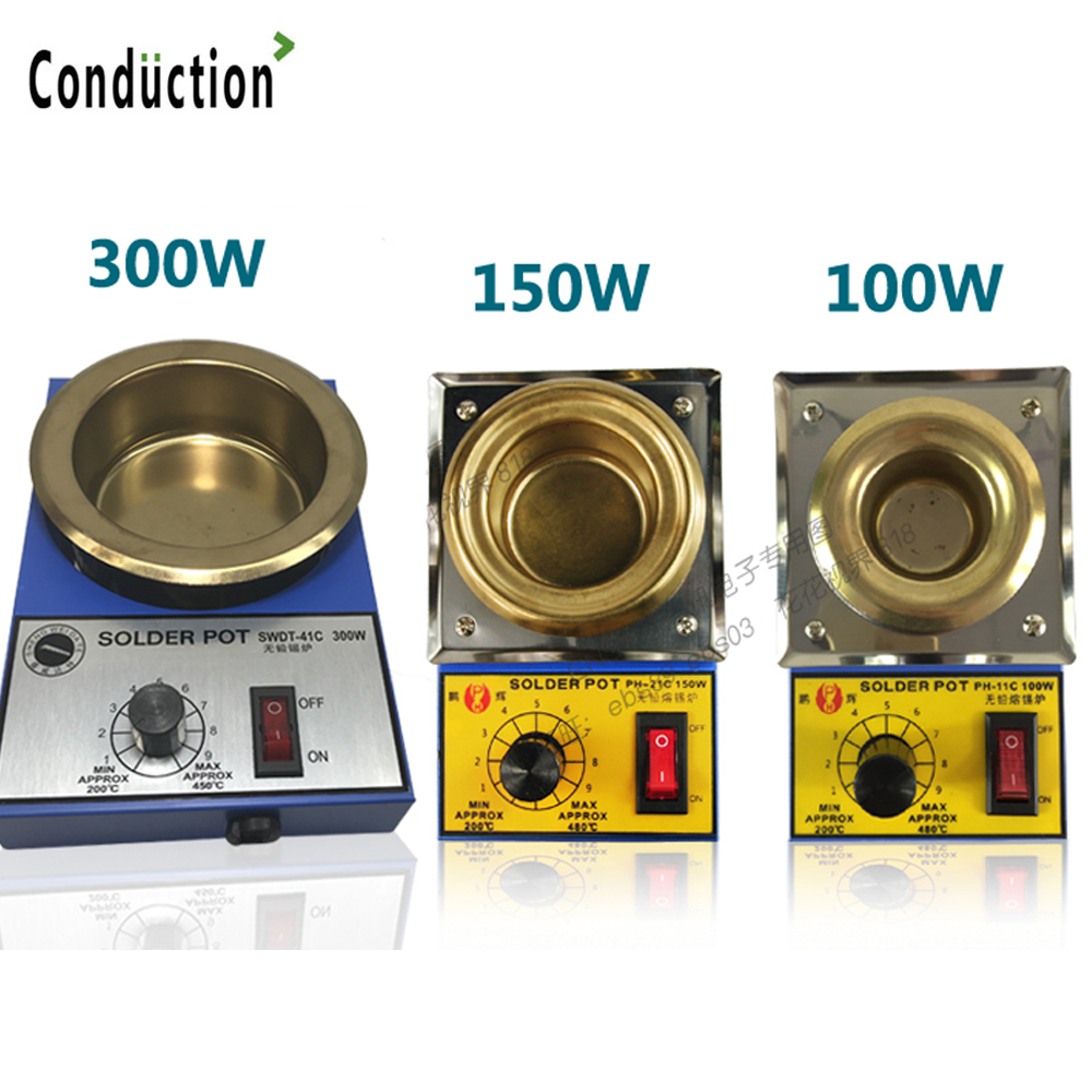 High Quality Temperature Controlled Soldering Pot Melting Tin Pot Tin Cans EU/US/UK Plug 200~450 Centigrade