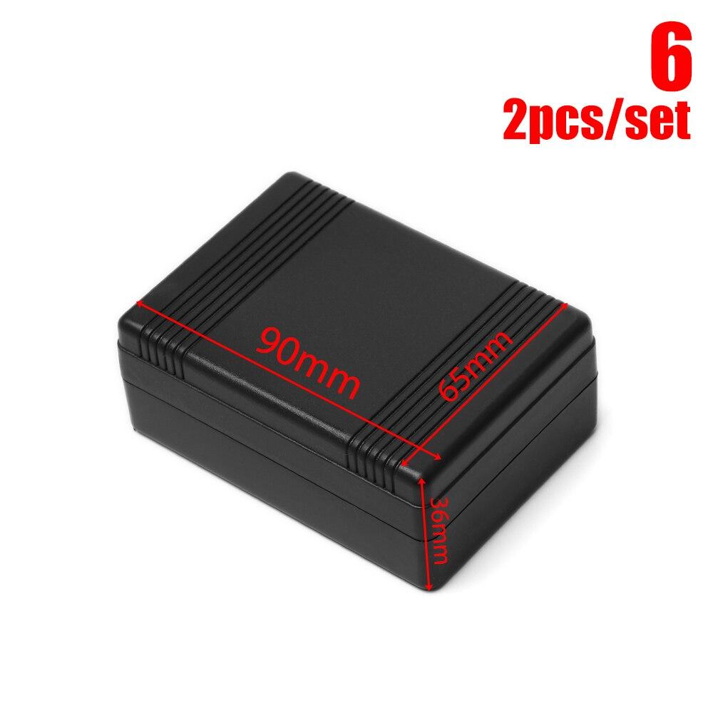 2 шт. черный корпус DIY корпус прибора ABS пластиковый проект коробка ящик для хранения корпус коробки водонепроницаемые электронные принадлежности - Color: 2pcs style 6