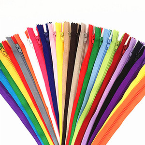 10pcs 15-60cm (6-24 Inch) Nylon Coil Zippers Tailor Sewer Craft Crafter's & FGDQRS (20 colors)