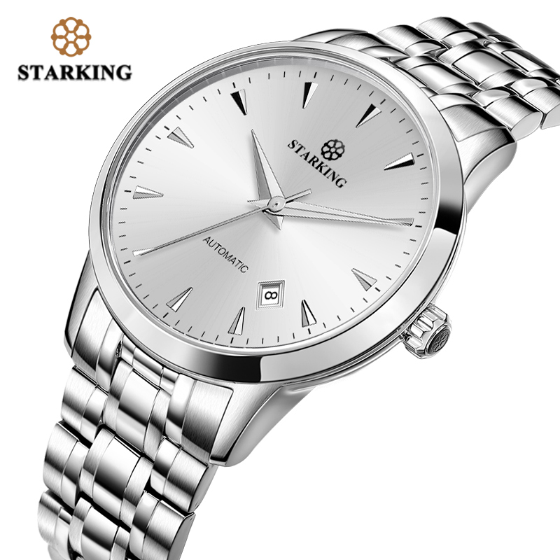 STARKING Mechanical Watch Men Miyota Movt Stainless Steel Wristwatch Sapphire Automatic Self wind Men Watch Relogio 3ATM AM0171 - 2