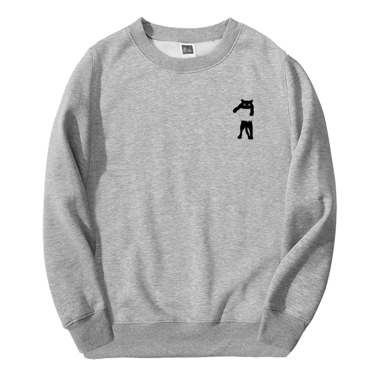 New Sweatshirts Animal Print Mens Tracksuit Cats Kawaii Streetwear Fashion 2019 Spring Autumn Clothing New Arrival Men Hoodie