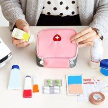 Mini kit de primeiros socorros ao ar livre saco de viagem portátil pacote de medicina kit de emergência sacos saco de armazenamento de medicina pequeno organizador
