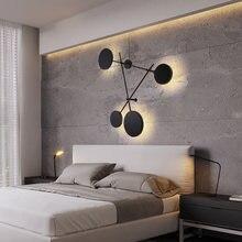 Креативная черная индивидуальная круглая настенная лампа украшение