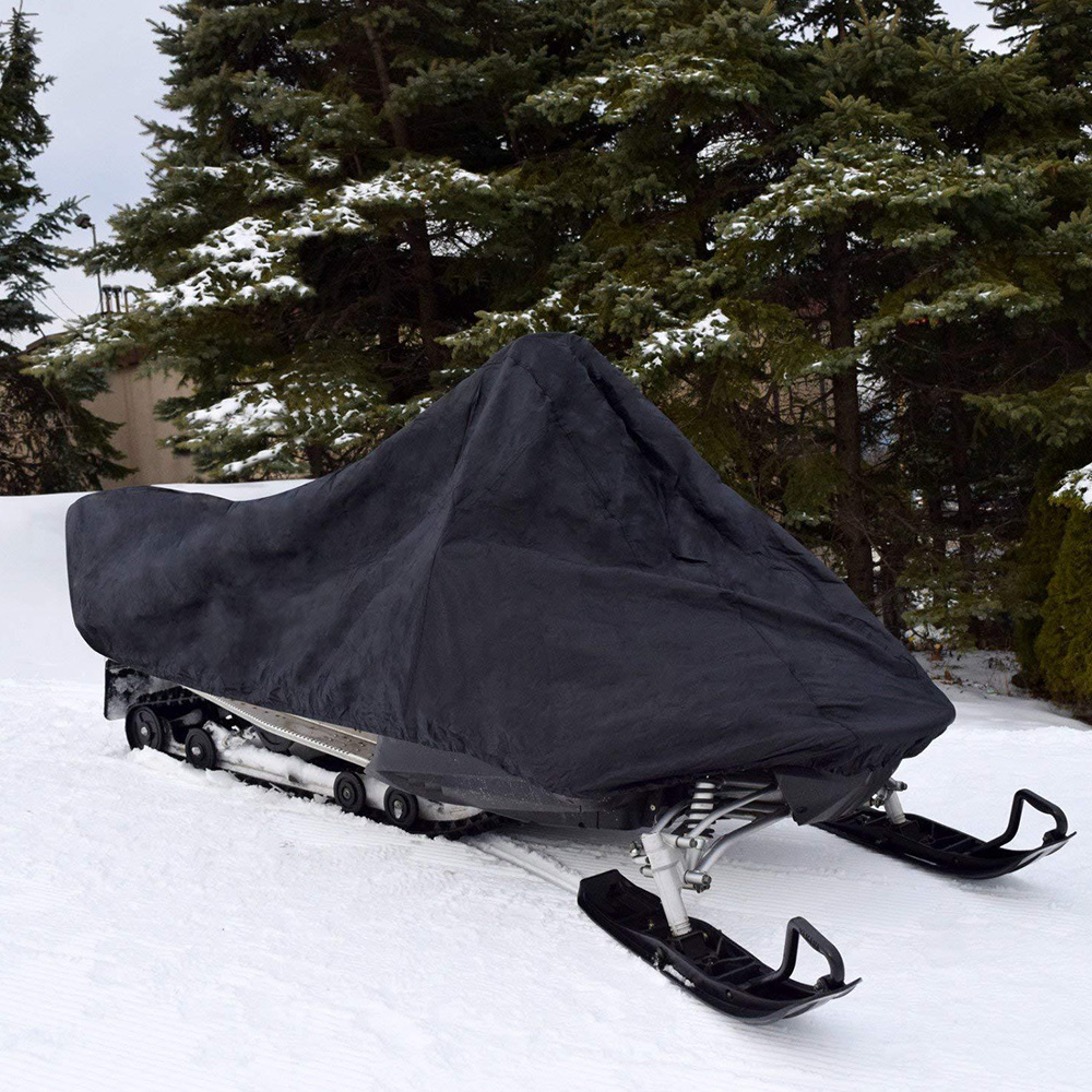 368*130*121cm Black Car Snowmobile Cover Made Of High-quality Materials Car Decoration Accessories Car Protector