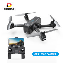 DEERC DE25 FPV Drone Selfie 1080p Camera 120 FOV Tapfly 18 Min Vlucht Auto Hover GPS Hand Gebaren Volgen me GPS RTH Helicopter(China)