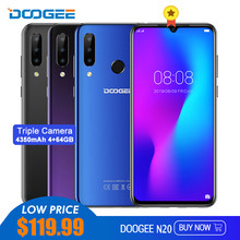 DOOGEE N20 6.3'' FHD+ Mobile Phone 4GB 64GB Helio P23 MT6763T Octa Core Cellphone 4350mAh 16MP+8MP+8MP Triple Camera 4G Phone(China)