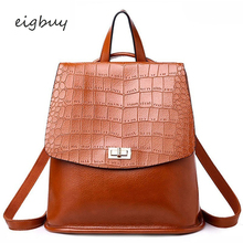 цены Luxury Backpack Female Shoulder Bag Lady Travel Fashion Crocodile Women Backpack High Quality Leather Multi-functional Backpacks