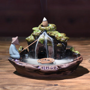 Waterfall Backflow Incense Burner Holder Gothic Decor Backflow Incense Burner Candle Holder Incent Burner Home Decor