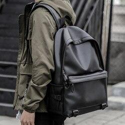 2019 mochilas de cuero para hombres mochilas escolares negras para adolescentes y niños mochilas para ordenador portátil mochilas de viaje mochila masculina