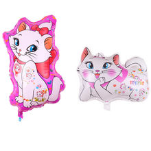10Pcs Marie Katze Thema Aluminium Ballon Set Liebe Form Luftballons Baby Dusche Geburtstag Party Decor Party Supplies Folie Luftballons(China)
