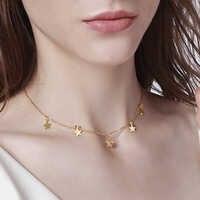 Vnox tempérament étoiles tour de cou ton or colliers en acier inoxydable pour femmes bijoux candides