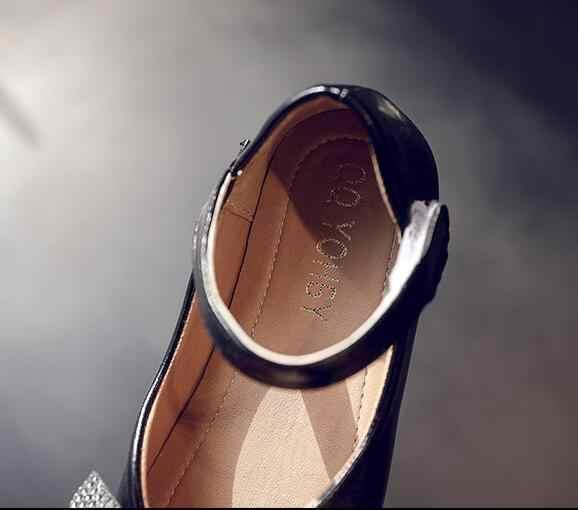 2020 bahar çocuklar yumuşak PU deri ayakkabı kız prenses ayakkabı için papyon daireler kızlar ayakkabı boyutu 26-35