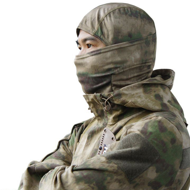 Tactical Camouflage Full Face Mask CS Game Army Hunting Riding Sports Helmet Lining Cap Outdoor Military Warm Hood 2