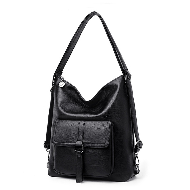 2019 Fashion Women's Shoulder Bags Famous Brand Luxury Women Leather Handbags Female Soft Leather Convertible Ladies Back Pack
