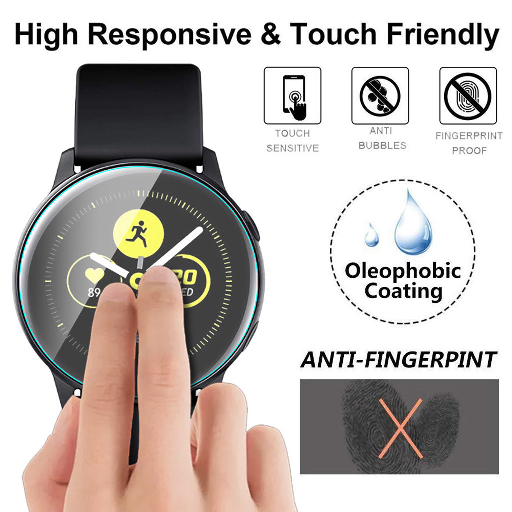 9h Tempered Glass On For Samsung Active Watch 2 40mm Screen Protector Film Vidrio Templado Para Reloj Bubble Free Anti Scratch