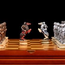 Peças de xadrez 32 peças de xadrez xadrez mão escultura desenhada à mão cavaleiro medieval peças de xadrez colecionável conjunto de xadrez de luxo