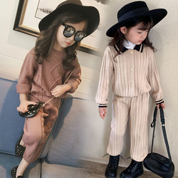 Outono meninas outfit casual calças camisola infantil terno crianças de malha terno de inverno meninas conjunto de roupas do bebê meninas natal vestir