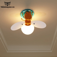 modern honeybee Ceiling Lights Creative Kids Childrens Room Bedroom ceiling light lustre loft kitchen lights room