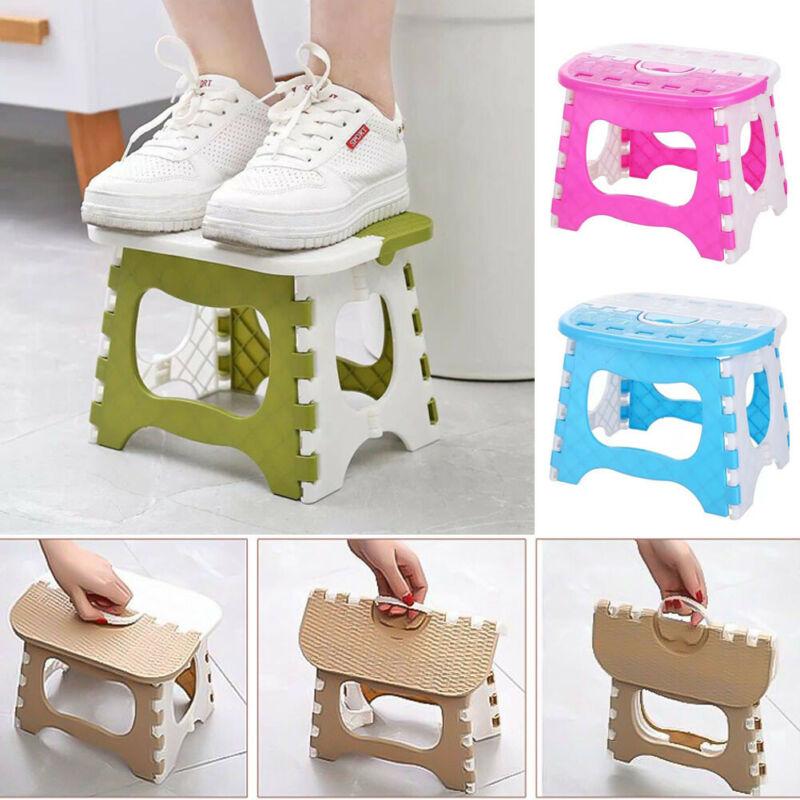 Small FOLDING STEP STOOL Multi Purpose Home Kitchen Foldable Fold Up Stepstool