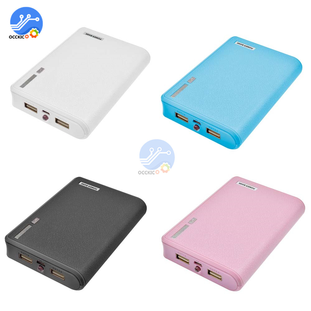 USB 4*18650 Power Bank Battery Box For Mobile Phone Charger DIY Shell Case 18650 Battery Storage Box Holder 4 Slot
