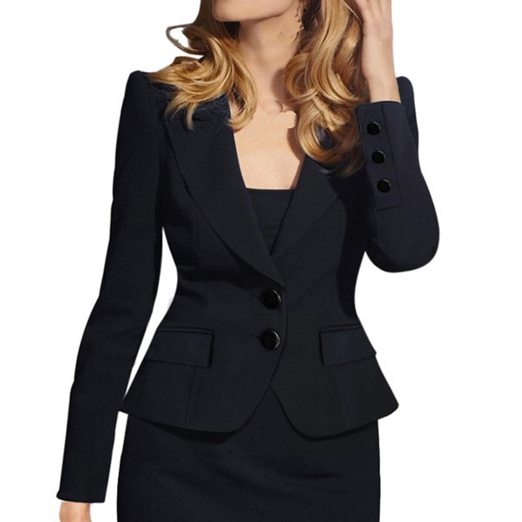 Women Blazers And Jackets Long Sleeve Blazer Open Front Short Cardigan Suit Jacket Elegant Lady Work Office Coat Outwear Blouson