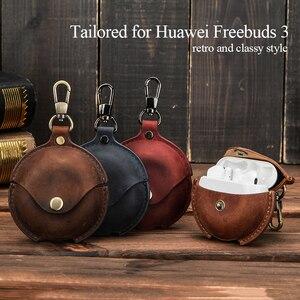Image 5 - Кожаный чехол для гарнитуры из нубука для Huawei freebuds 3, чехол для беспроводных наушников, чехол для huawei Freebuds3, защитный чехол