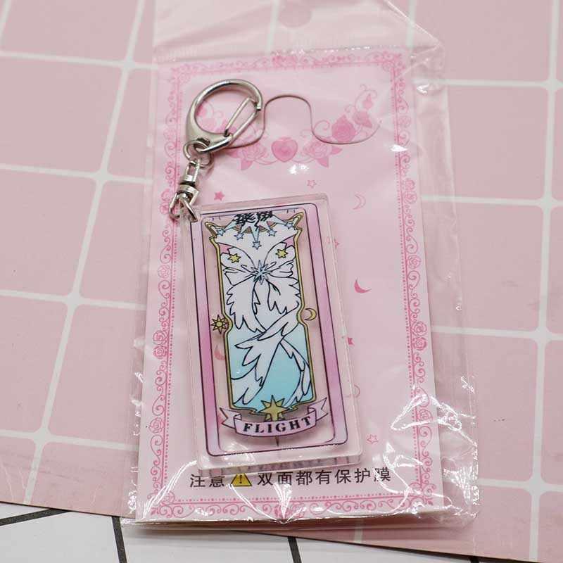Anime card captor card captor sakura carte chiare specchio Volo aqua magic circle Keychain di fascino del costume di cosplay